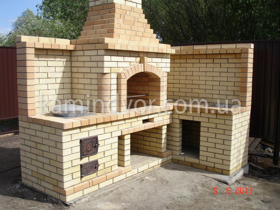 печные комплексы для коттеджей с камином барбекю с лежаком каталог