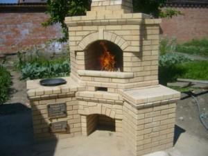 Садовая печь, барбекю