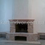 Прямой симметричный камин
