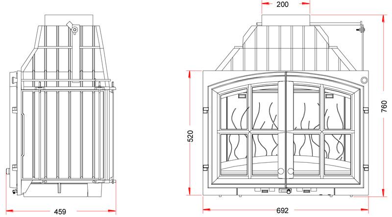 Invicta Hearth 700 Double doors3